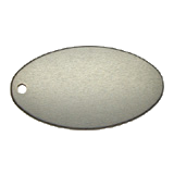 Oval<br/>Key Tag<br/>Aluminum Black