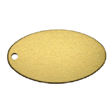 Oval<br/>Key Tag<br/>Aluminum Gold