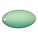Oval<br/>Key Tag<br/>Aluminum Green